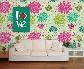 Papel de Parede Floral 0043 - Adesivos de Parede  - Paredes Decoradas