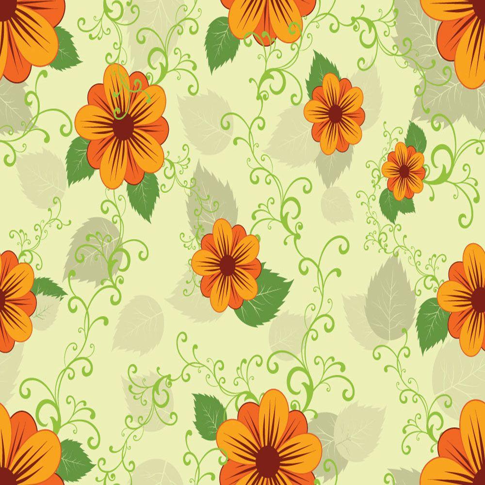 Papel de Parede Floral 0044 - Adesivos de Parede  - Paredes Decoradas