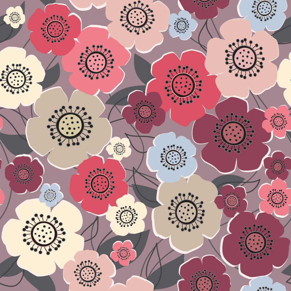 Papel de Parede Floral 0046 - Adesivos de Parede
