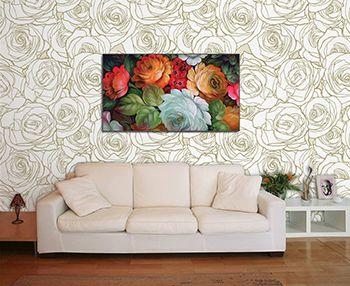 Papel de Parede Floral 0048 - Adesivos de Parede