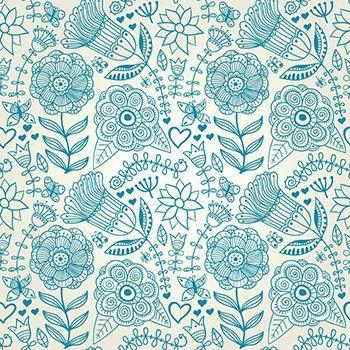 Papel de Parede Floral 0050 - Adesivos de Parede  - Paredes Decoradas