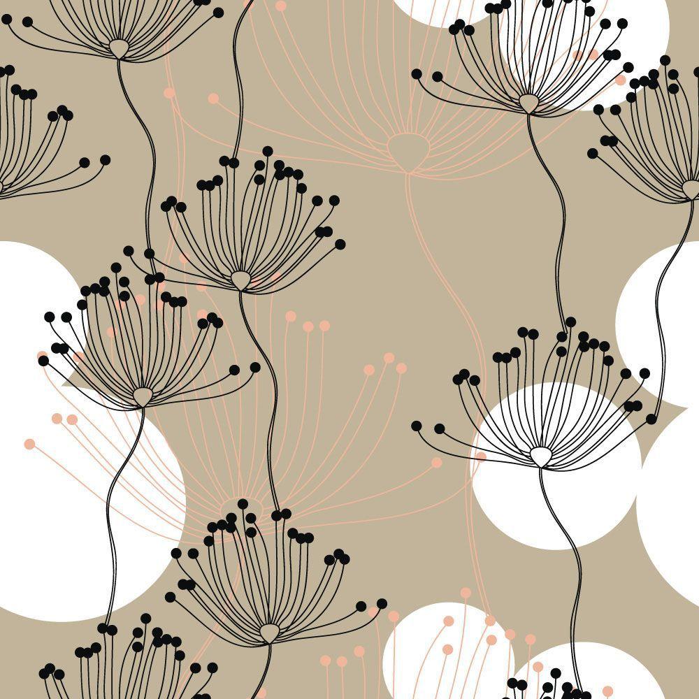 Papel de Parede Floral 0053 - Adesivos de Parede  - Paredes Decoradas