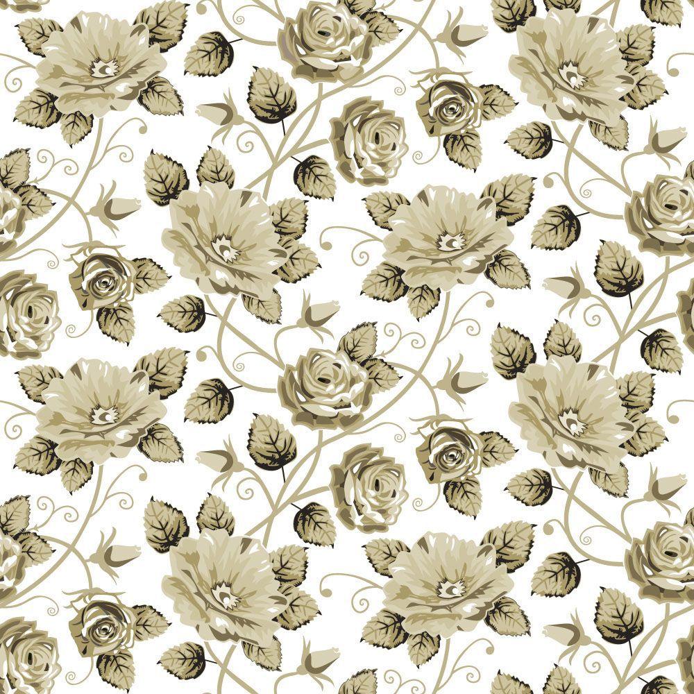 Papel de Parede Floral 0060 - Adesivos de Parede  - Paredes Decoradas