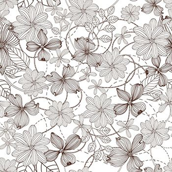 Papel de Parede Floral 0061 - Adesivos de Parede  - Paredes Decoradas