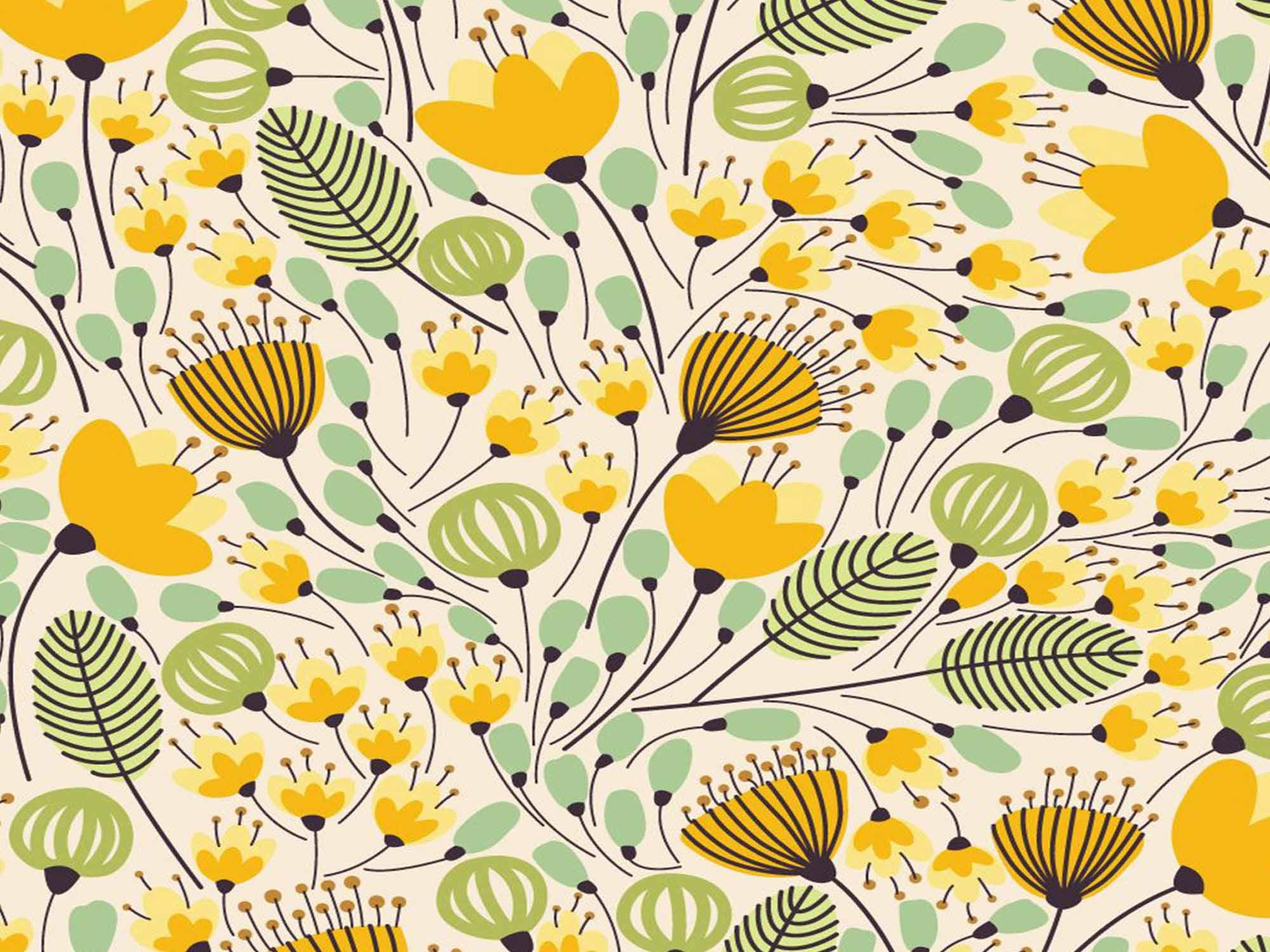 Papel de Parede Floral 0062 - Adesivos de Parede  - Paredes Decoradas