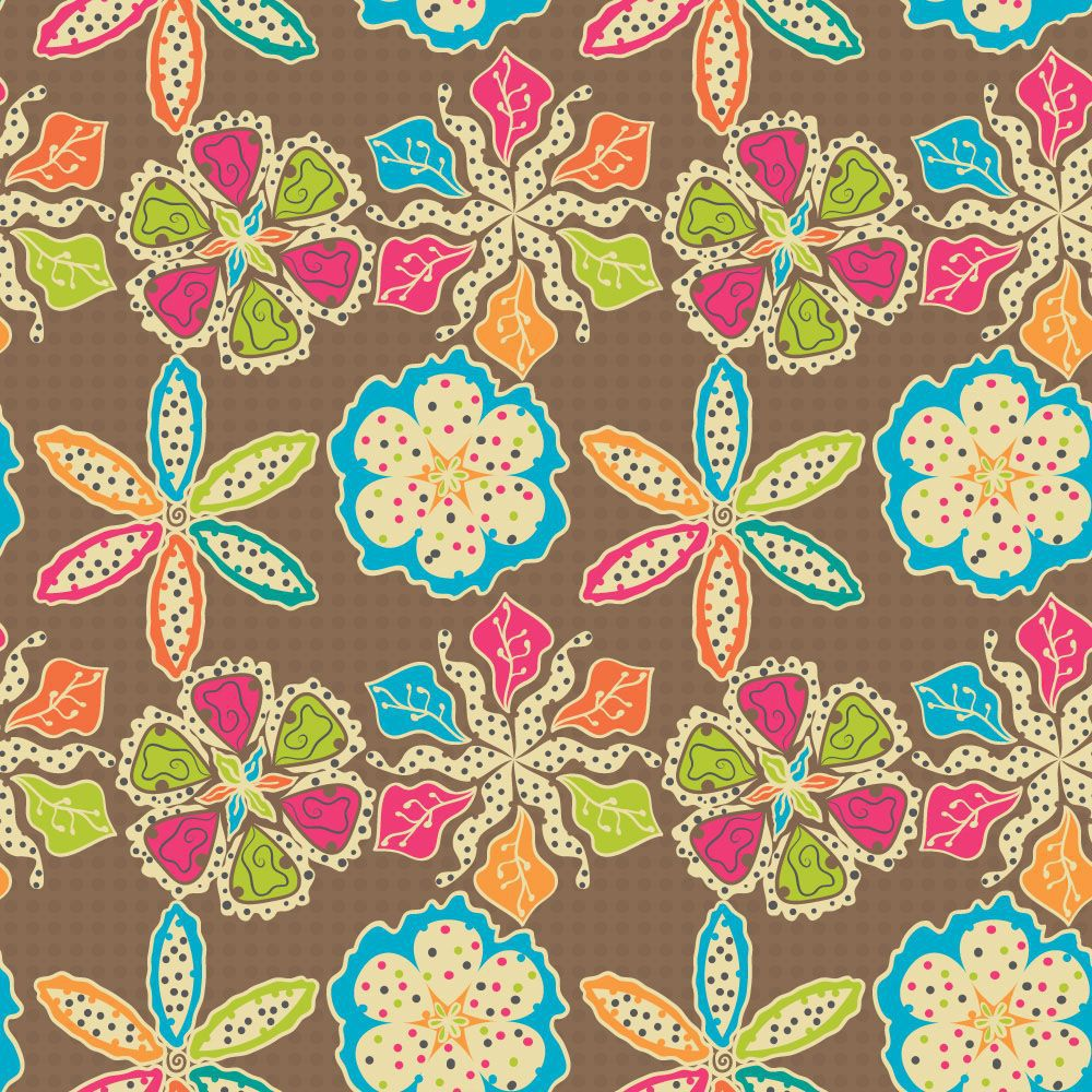 Papel de Parede Floral 0063 - Adesivos de Parede  - Paredes Decoradas