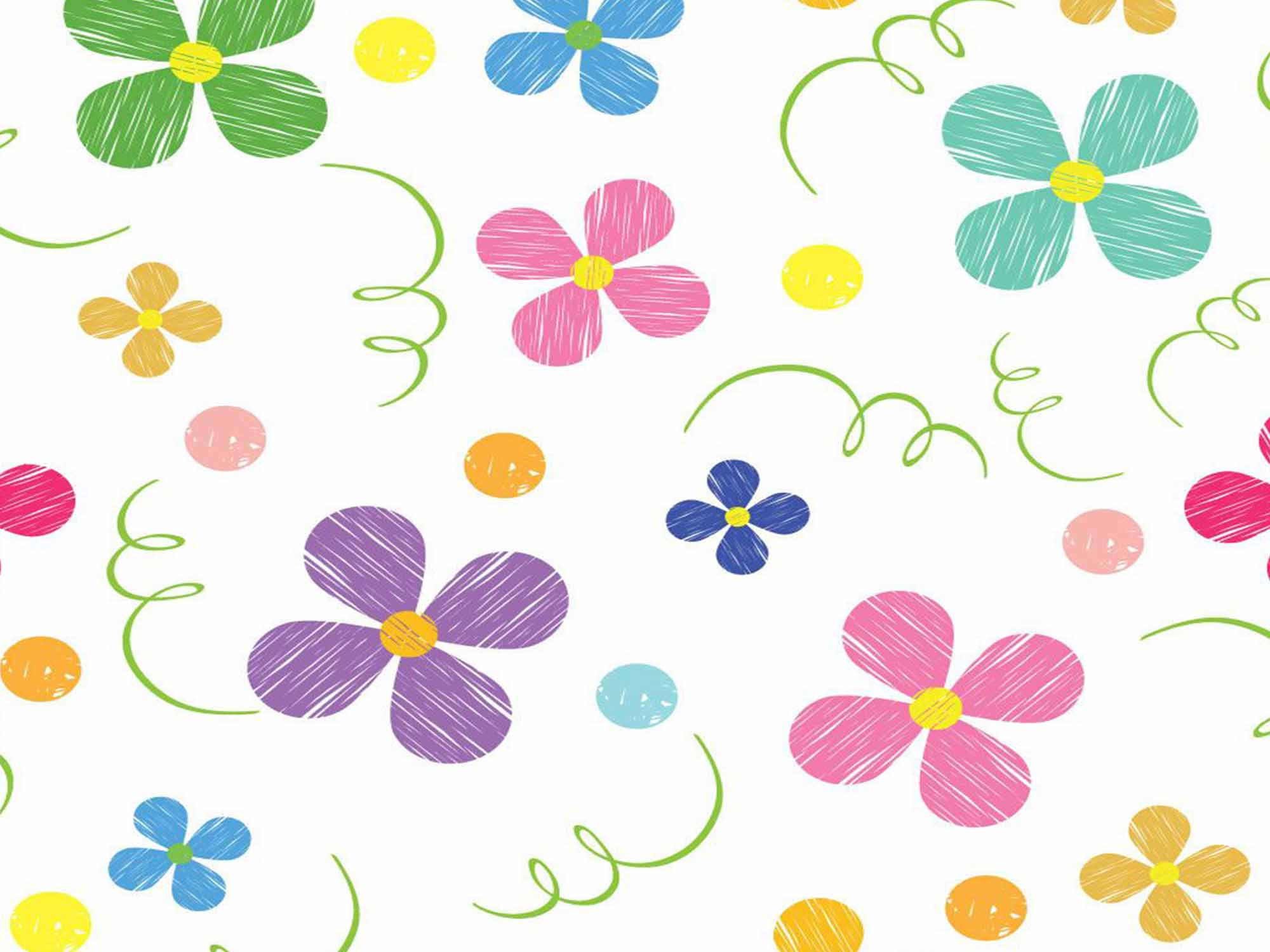 Papel de Parede Floral 0067 - Adesivos de Parede  - Paredes Decoradas