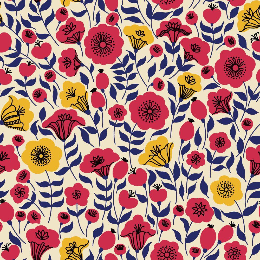 Papel de Parede Floral 0068 - Adesivos de Parede