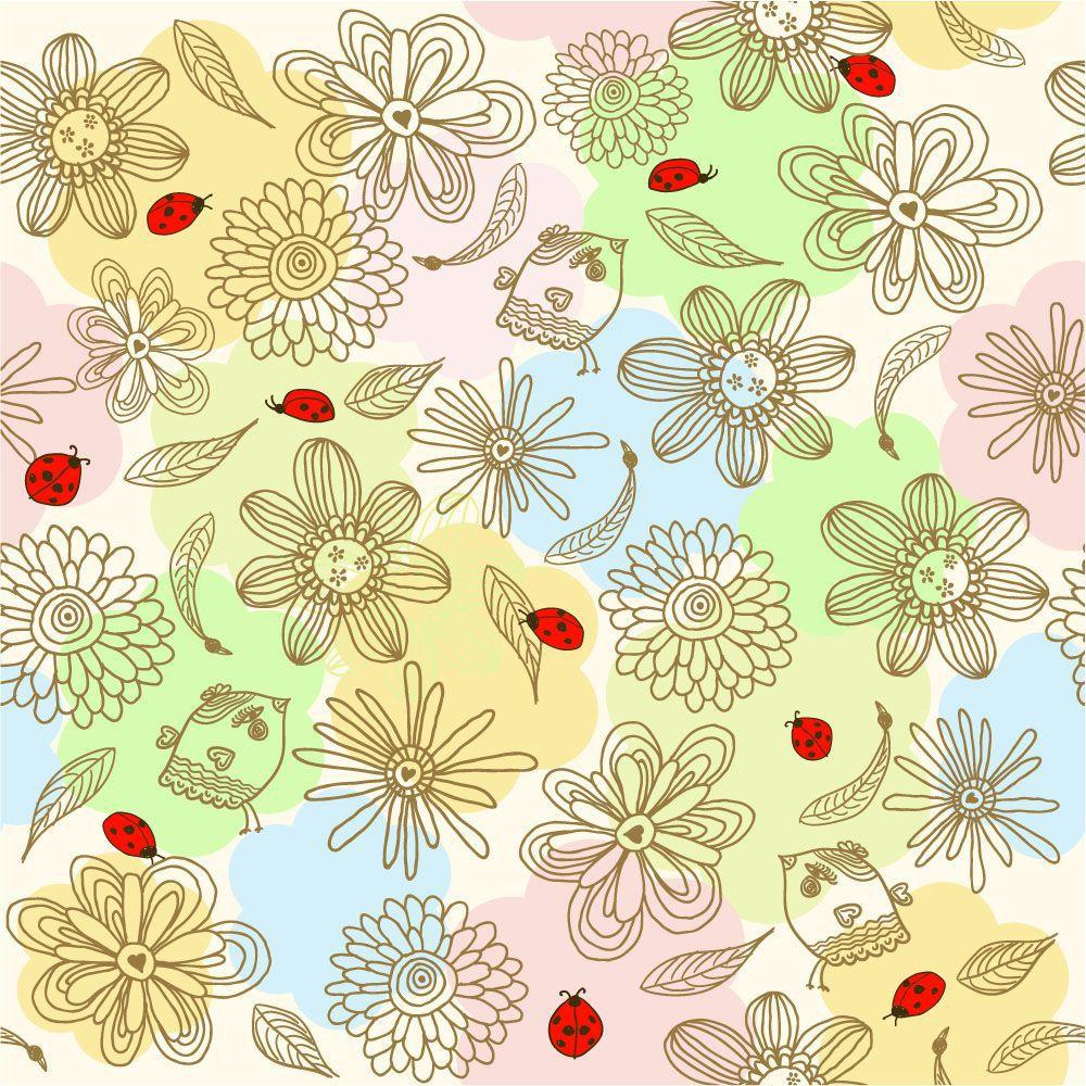 Papel de Parede Floral 0069 - Adesivos de Parede  - Paredes Decoradas