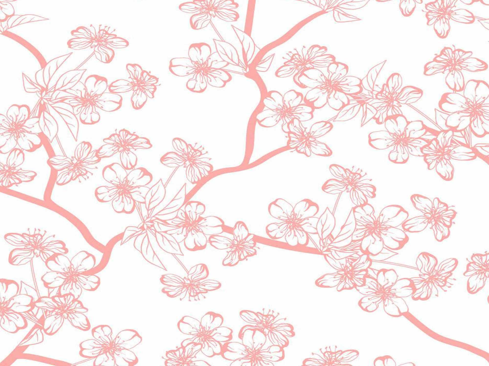 Papel de Parede Floral 0072 - Adesivos de Parede  - Paredes Decoradas