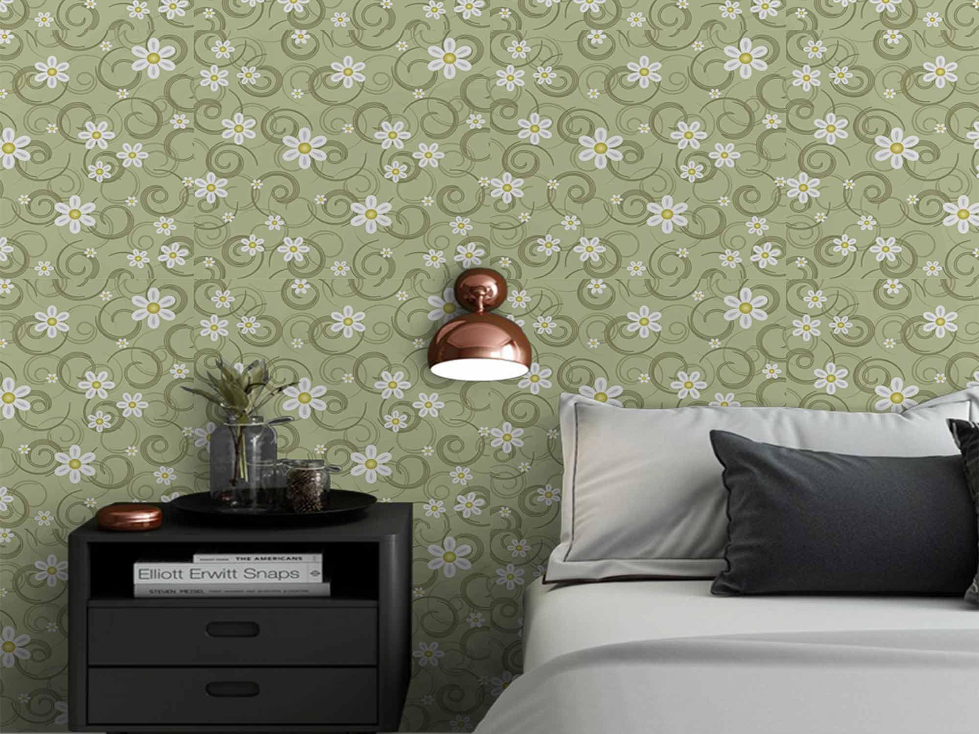 Papel de Parede Floral 0075 - Adesivos de Parede  - Paredes Decoradas