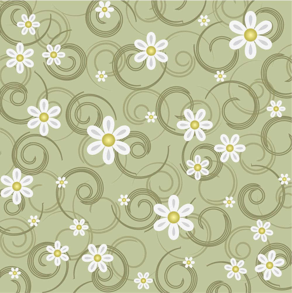 Papel de Parede Floral 0075 - Adesivos de Parede