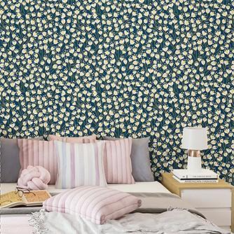 Papel de Parede Floral 0076 - Adesivos de Parede  - Paredes Decoradas