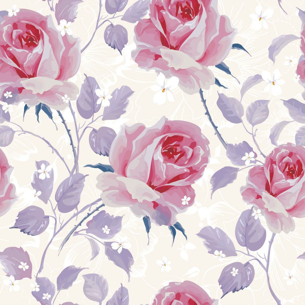 Papel de Parede Floral 0079 - Adesivos de Parede  - Paredes Decoradas