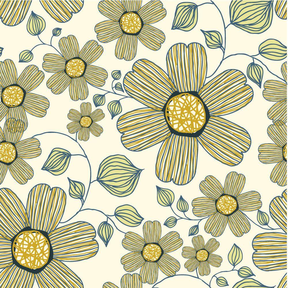 Papel de Parede Floral 0084 - Adesivos de Parede  - Paredes Decoradas