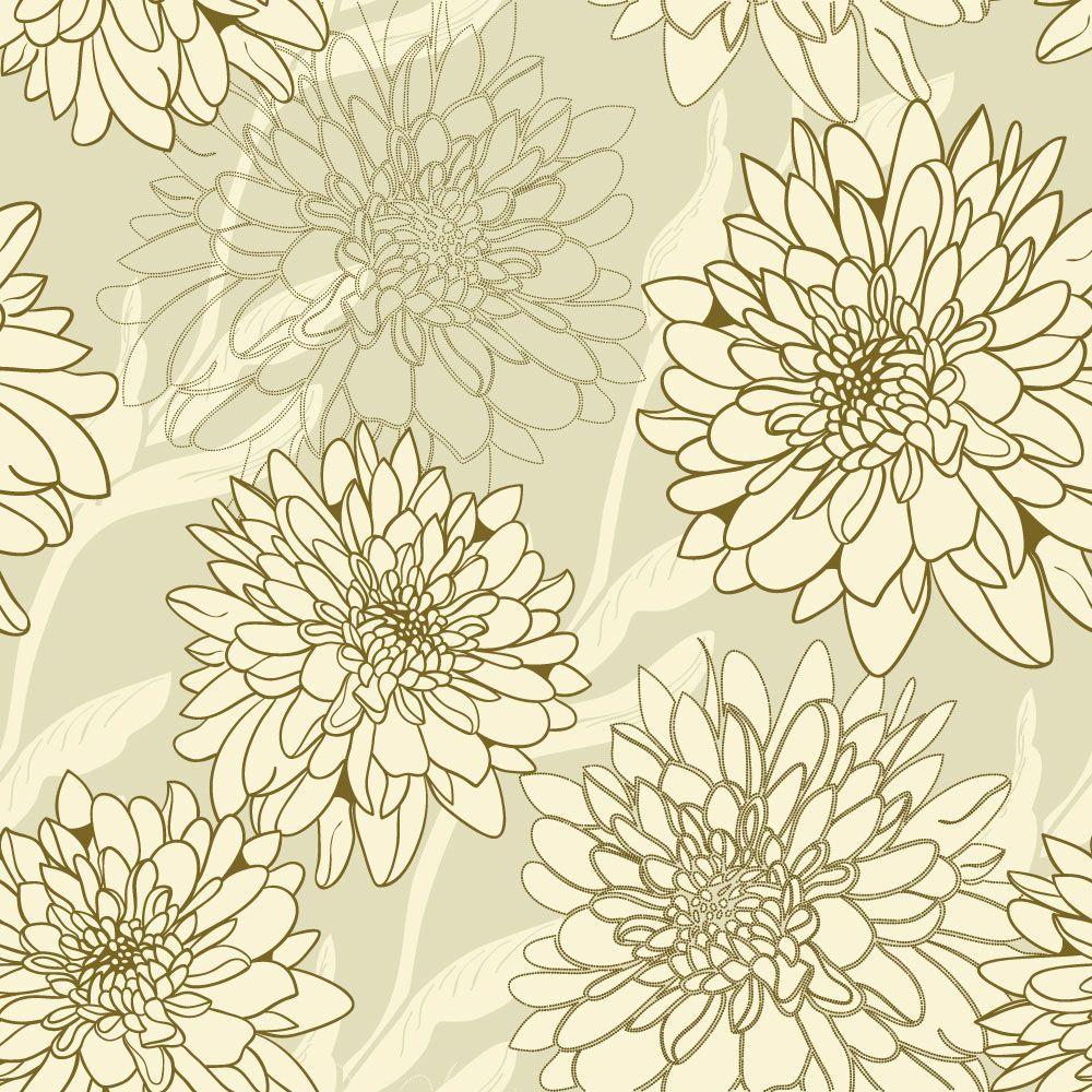 Papel de Parede Floral 0085 - Adesivos de Parede  - Paredes Decoradas