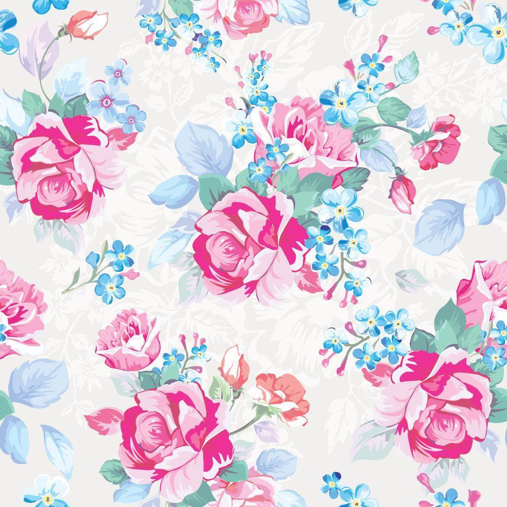 Papel de Parede Floral 0086 - Adesivos de Parede