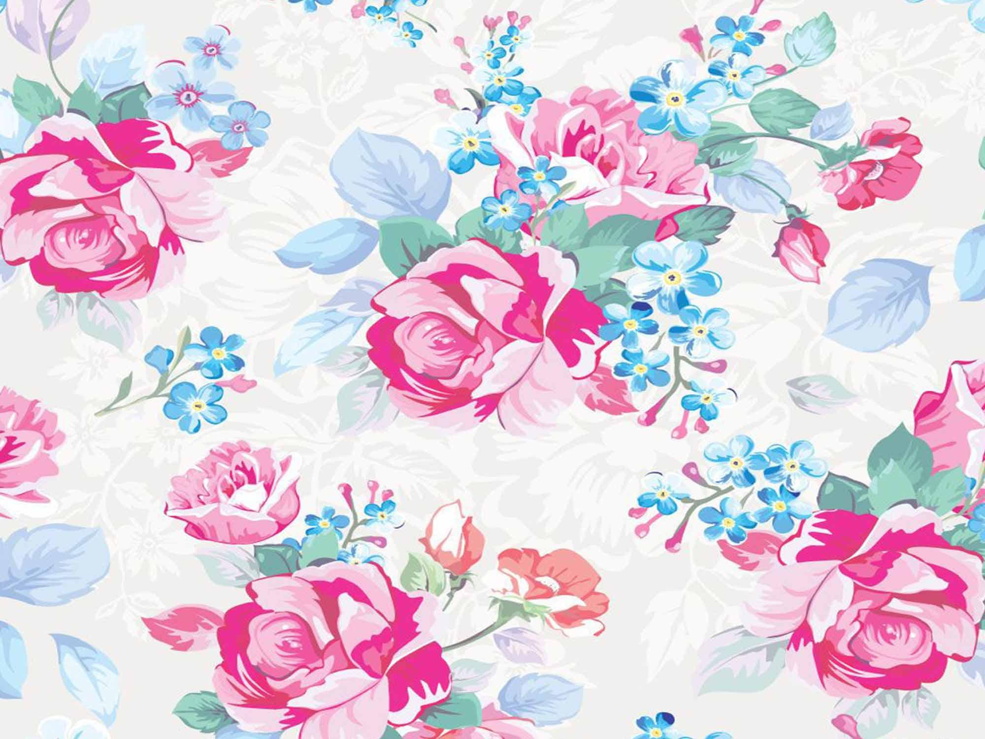 Papel de Parede Floral 0086 - Adesivos de Parede  - Paredes Decoradas