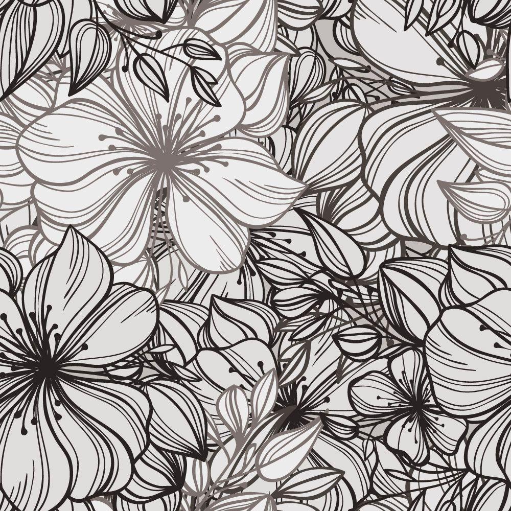 Papel de Parede Floral 0087 - Adesivos de Parede