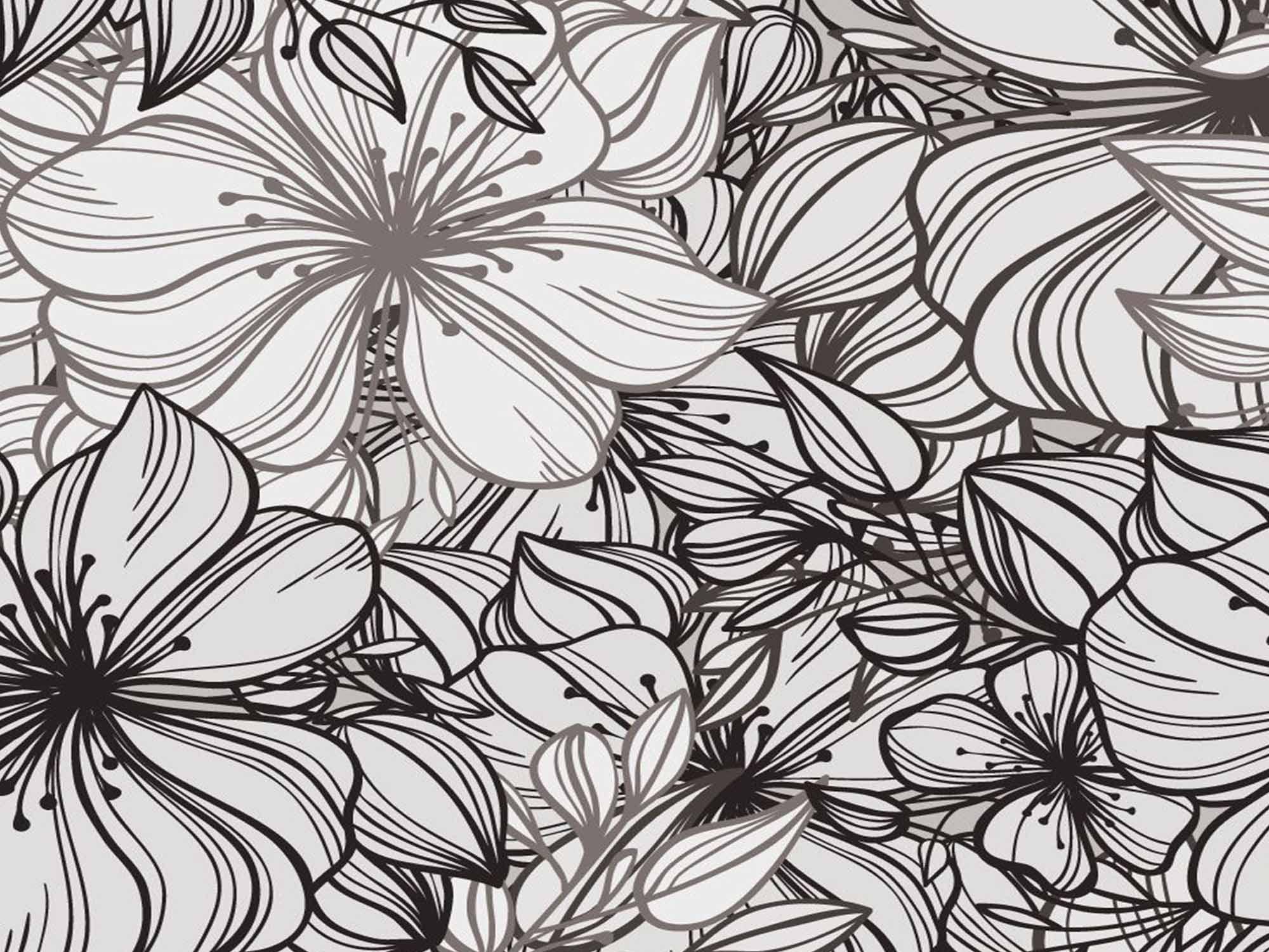 Papel de Parede Floral 0087 - Adesivos de Parede  - Paredes Decoradas