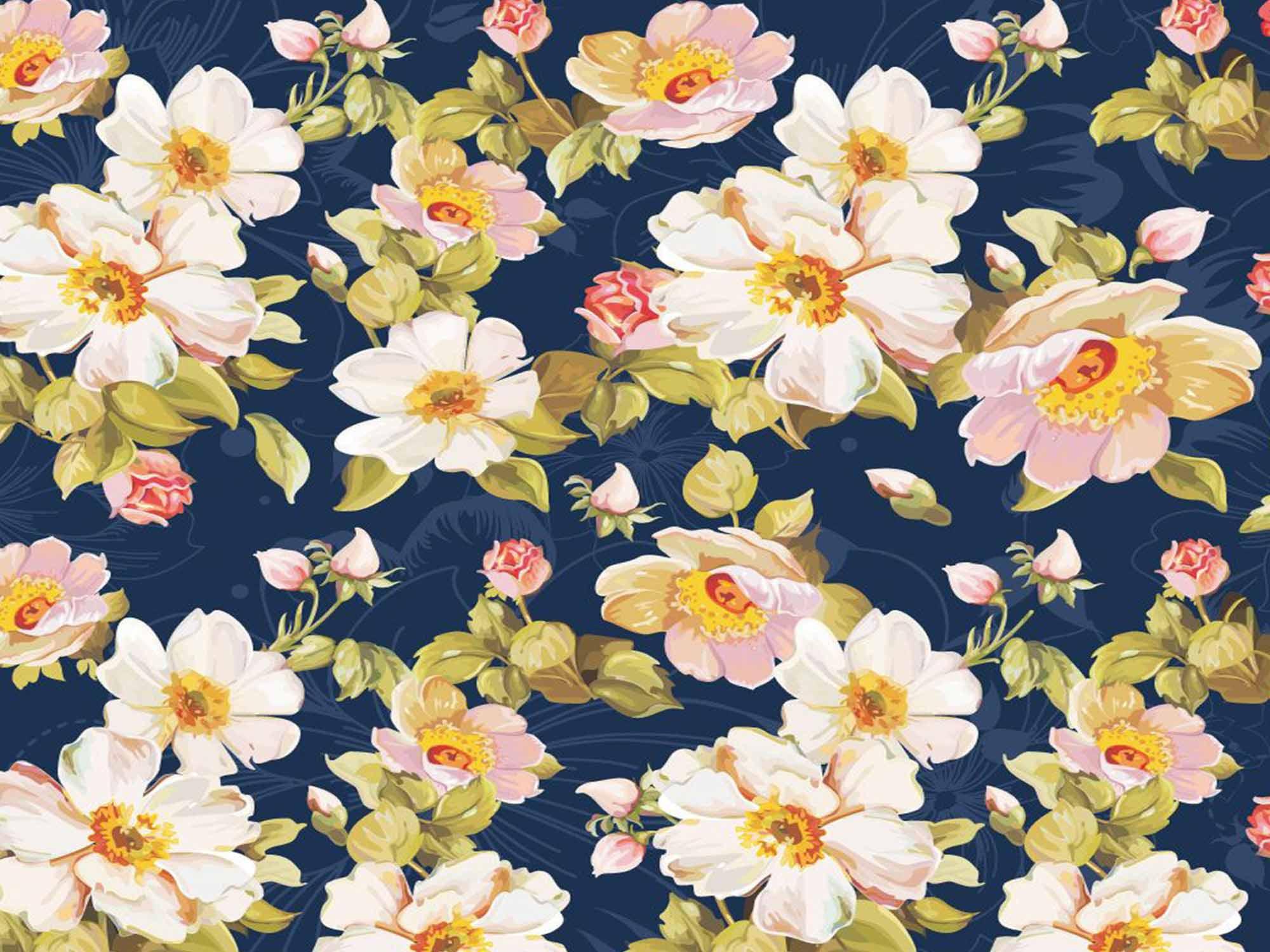 Papel de Parede Floral 0088 - Adesivos de Parede  - Paredes Decoradas