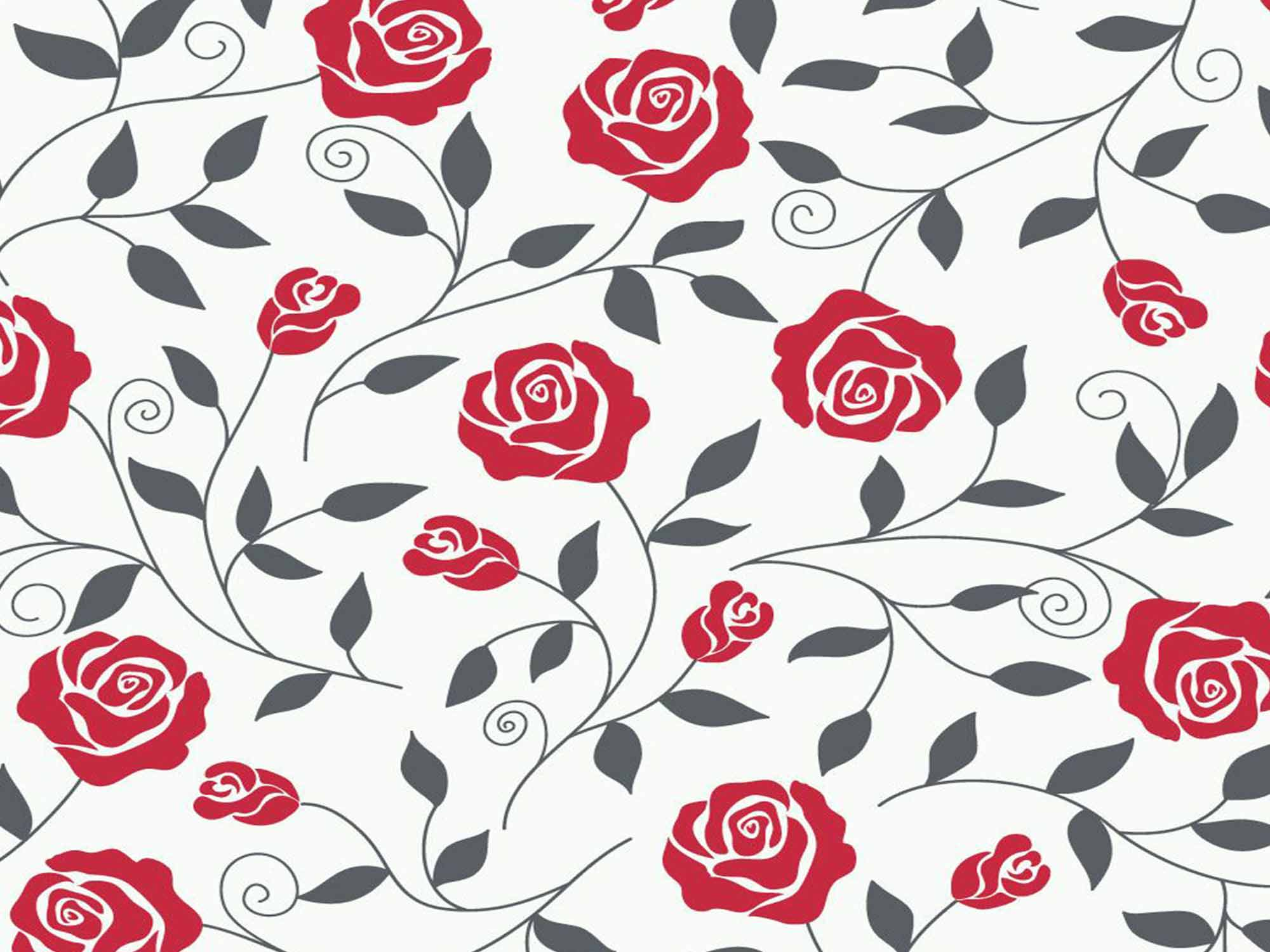 Papel de Parede Floral 0089 - Adesivos de Parede  - Paredes Decoradas