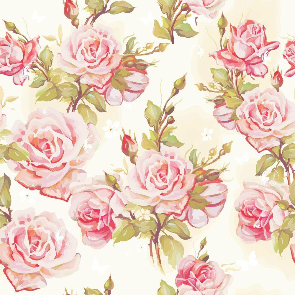 Papel de Parede Floral 0091 - Adesivos de Parede  - Paredes Decoradas