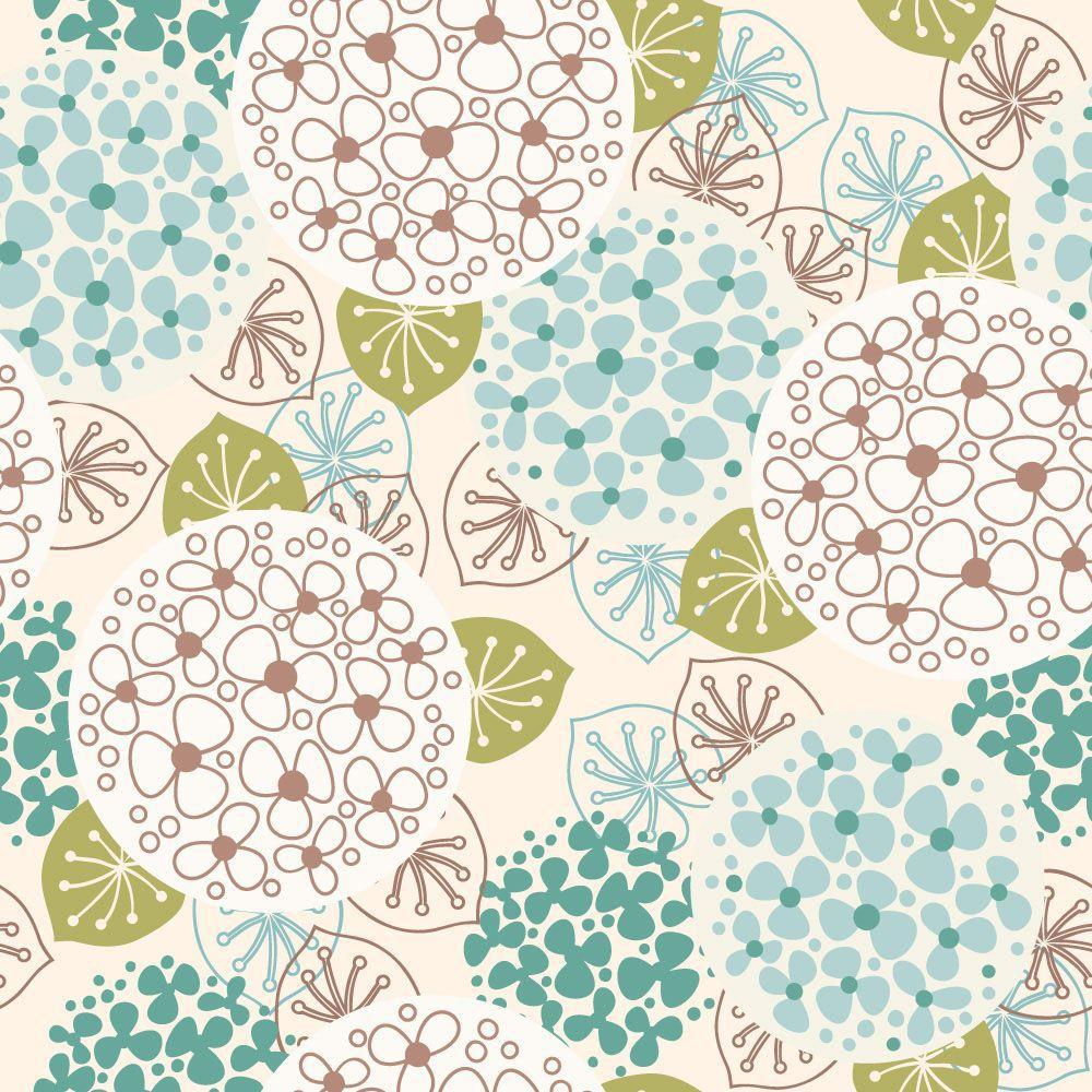 Papel de Parede Floral 0092 - Adesivos de Parede  - Paredes Decoradas