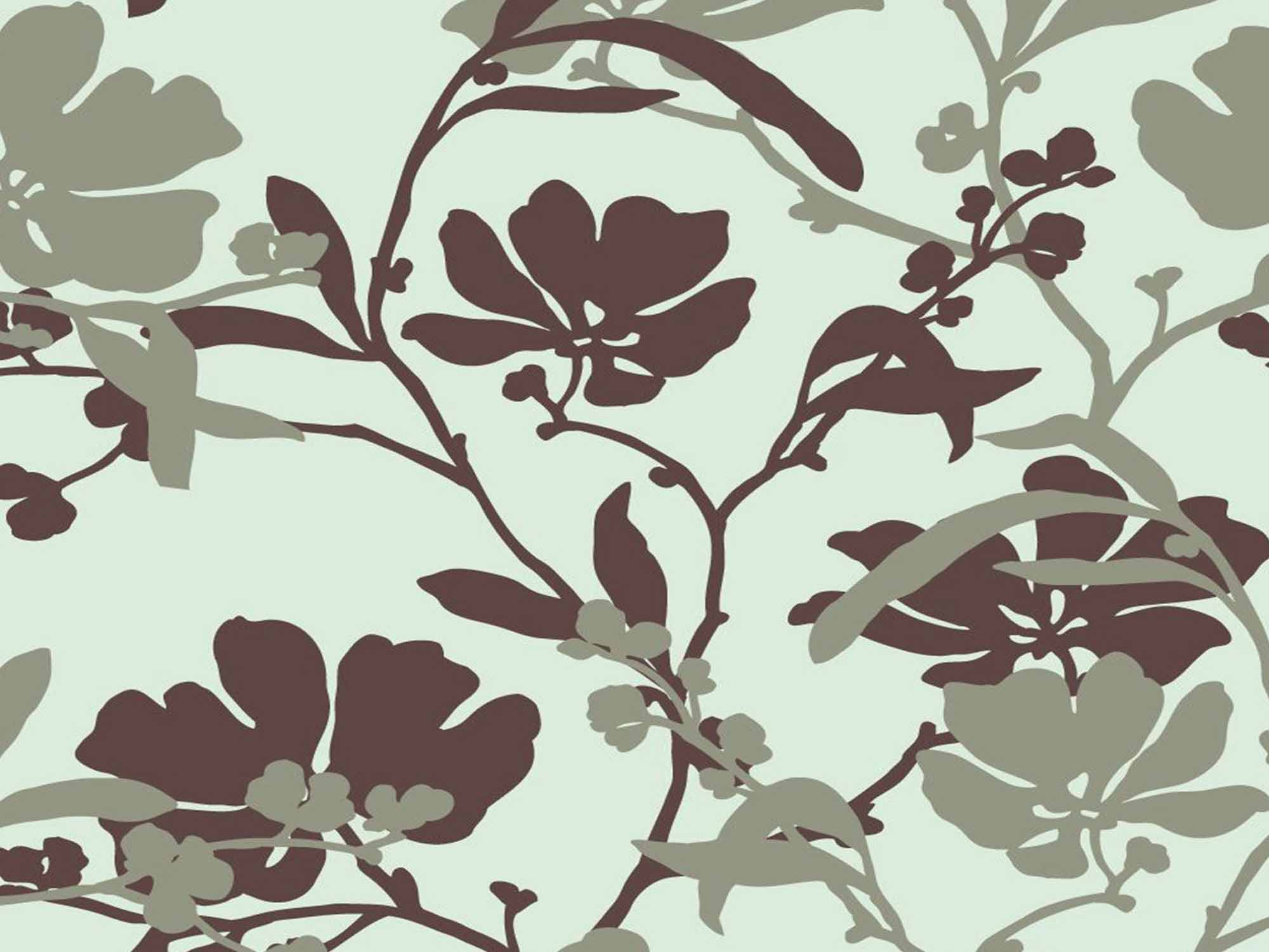 Papel de Parede Floral 0094 - Adesivos de Parede  - Paredes Decoradas