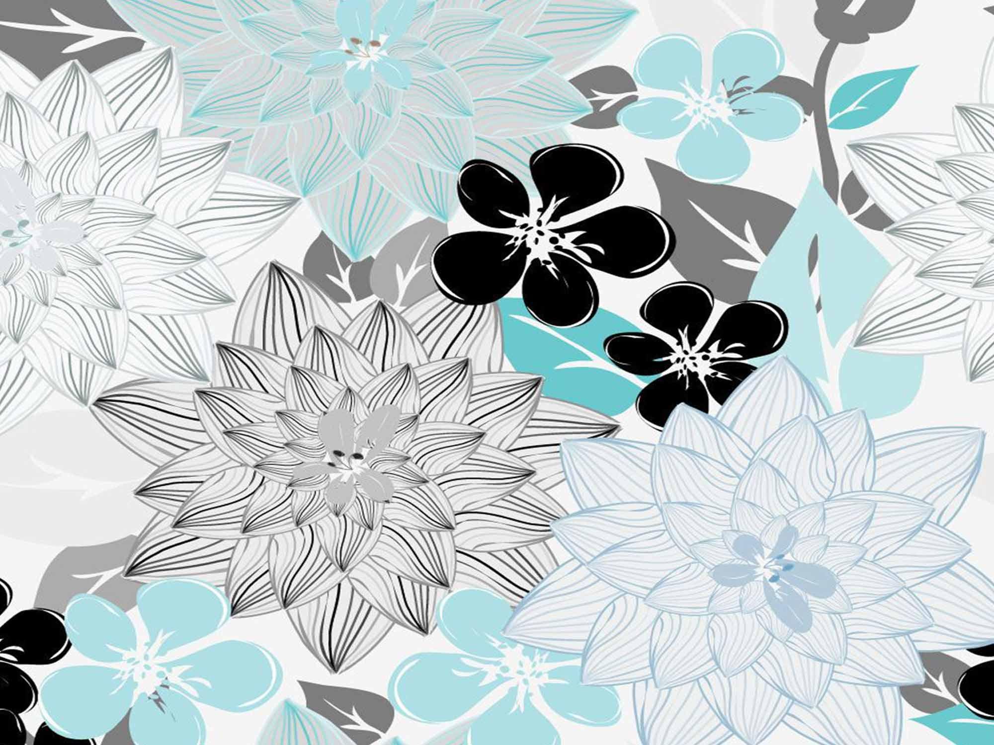 Papel de Parede Floral 0095 - Adesivos de Parede  - Paredes Decoradas