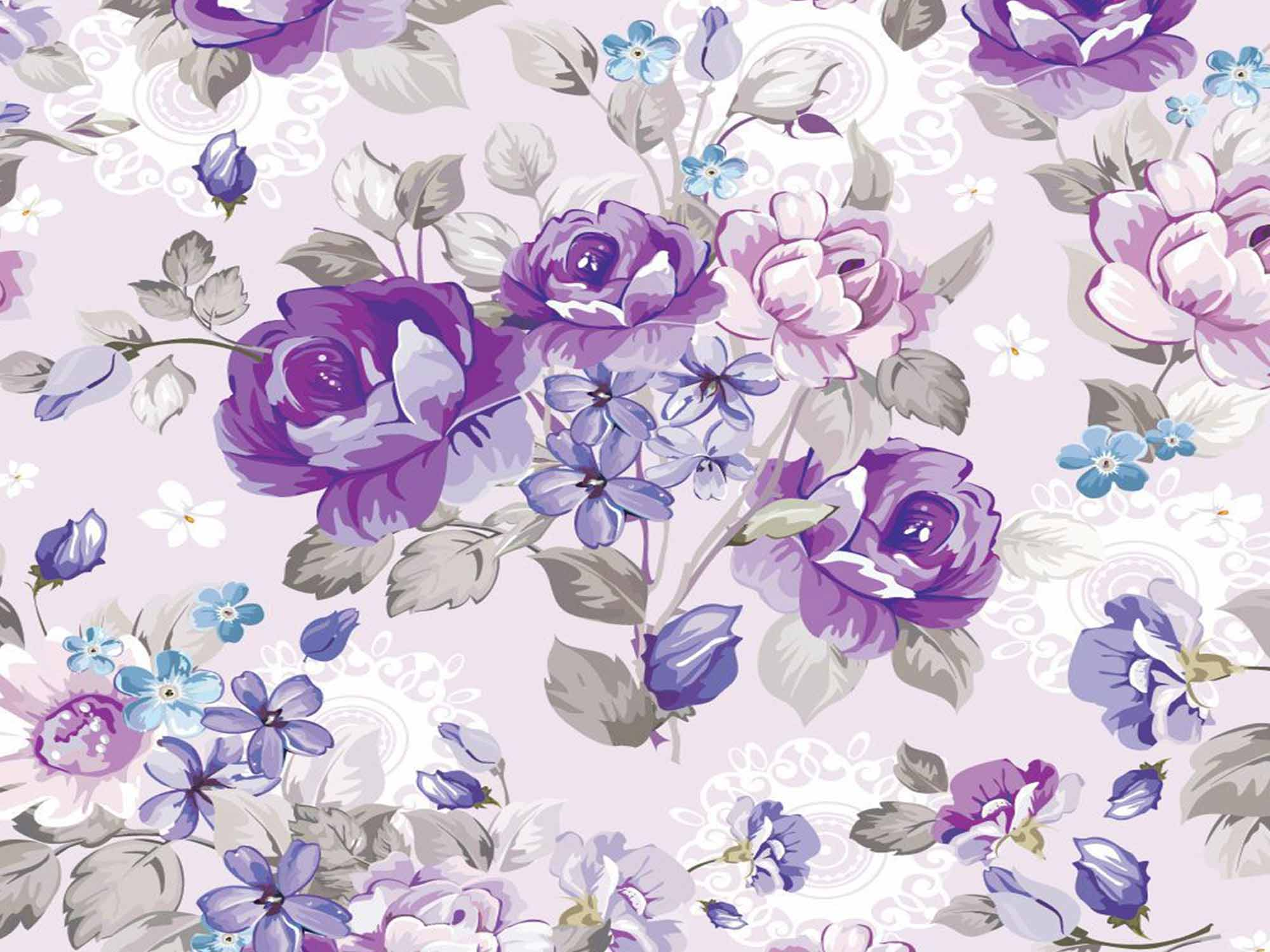 Papel de Parede Floral 0096 - Adesivos de Parede  - Paredes Decoradas