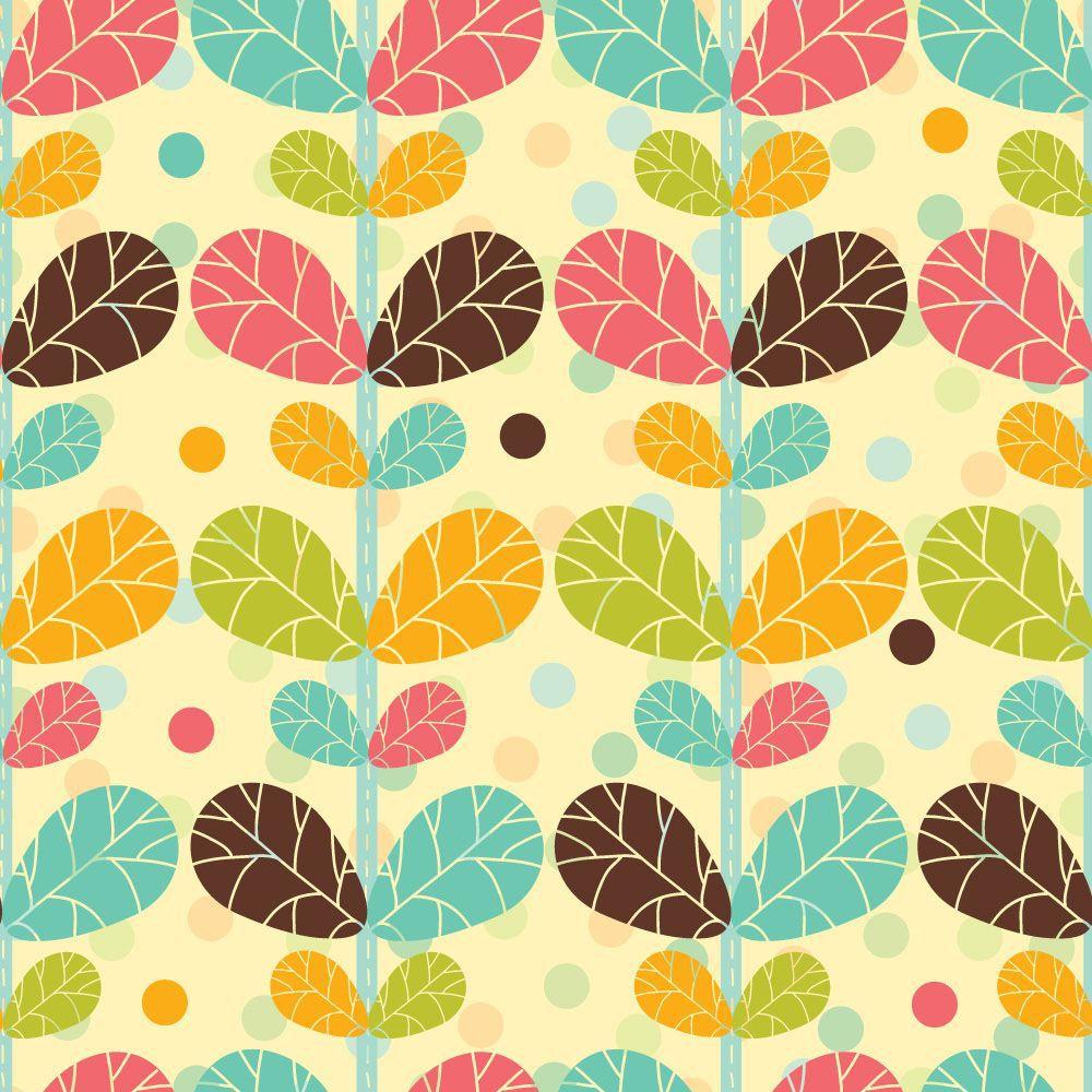 Papel de Parede Floral 0100 - Adesivos de Parede
