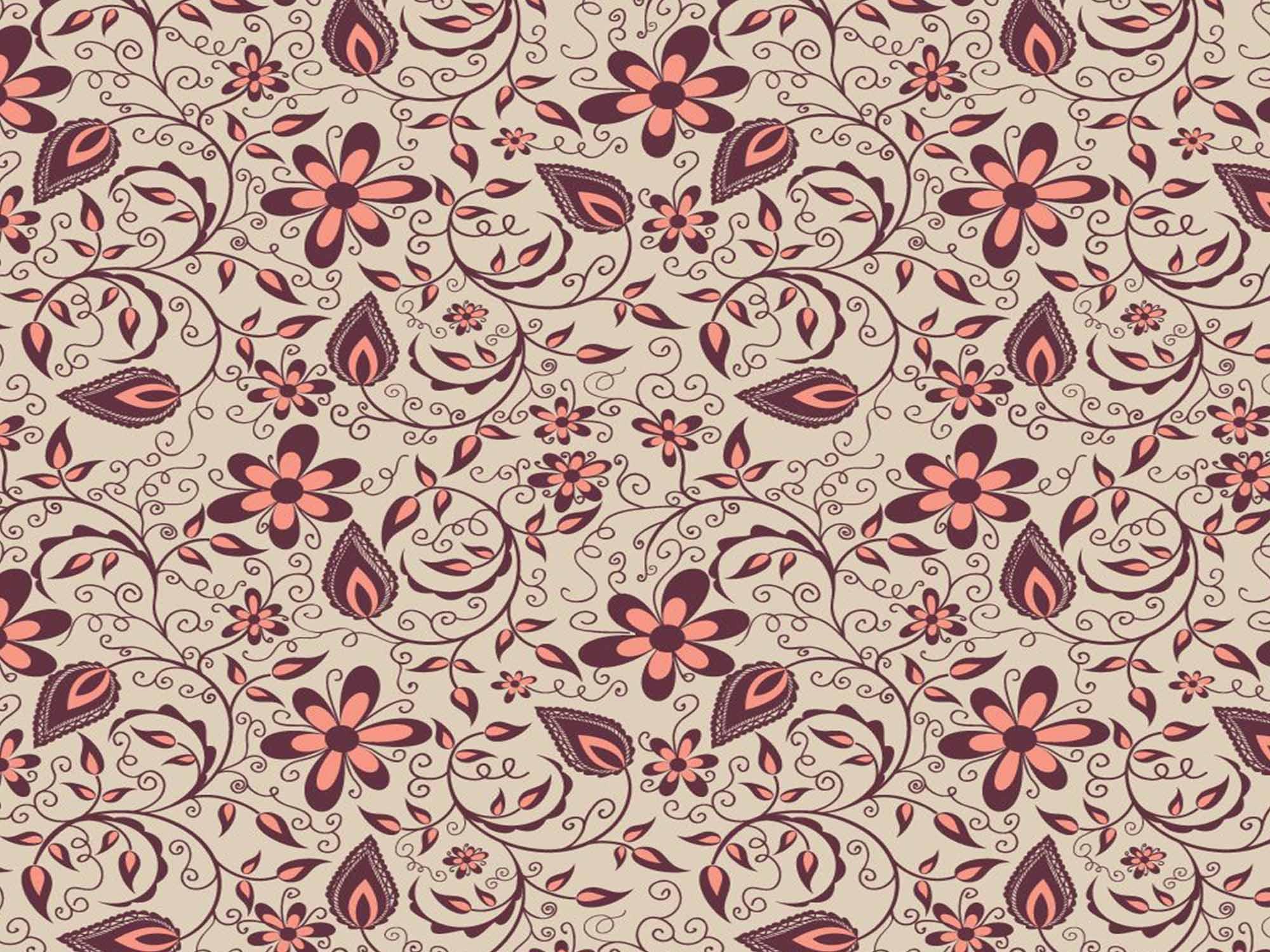 Papel de Parede Floral 0102 - Adesivos de Parede  - Paredes Decoradas