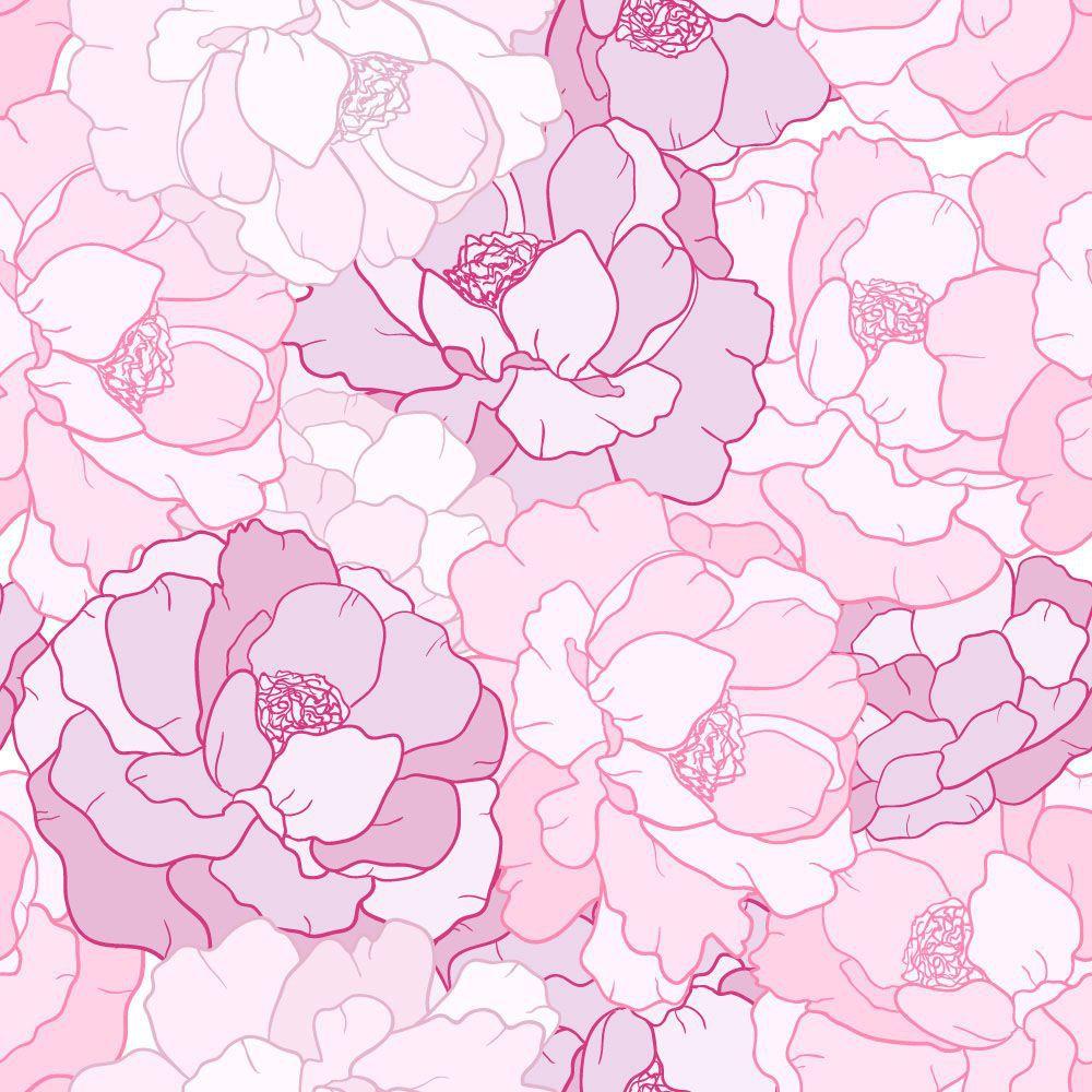 Papel de Parede Floral 0104 - Adesivos de Parede  - Paredes Decoradas