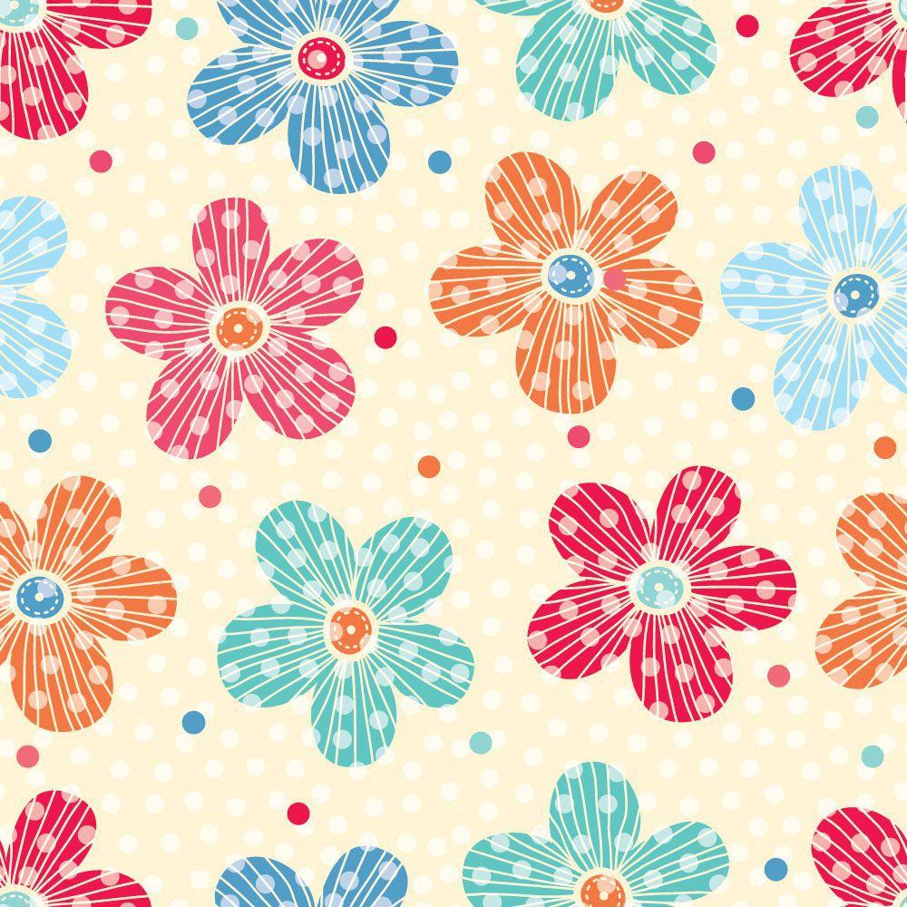 Papel de Parede Floral 0107 - Adesivos de Parede