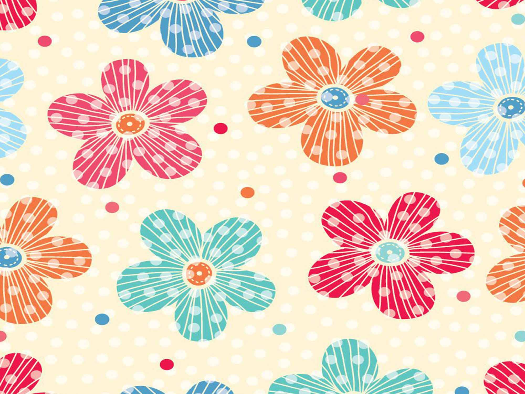 Papel de Parede Floral 0107 - Adesivos de Parede  - Paredes Decoradas