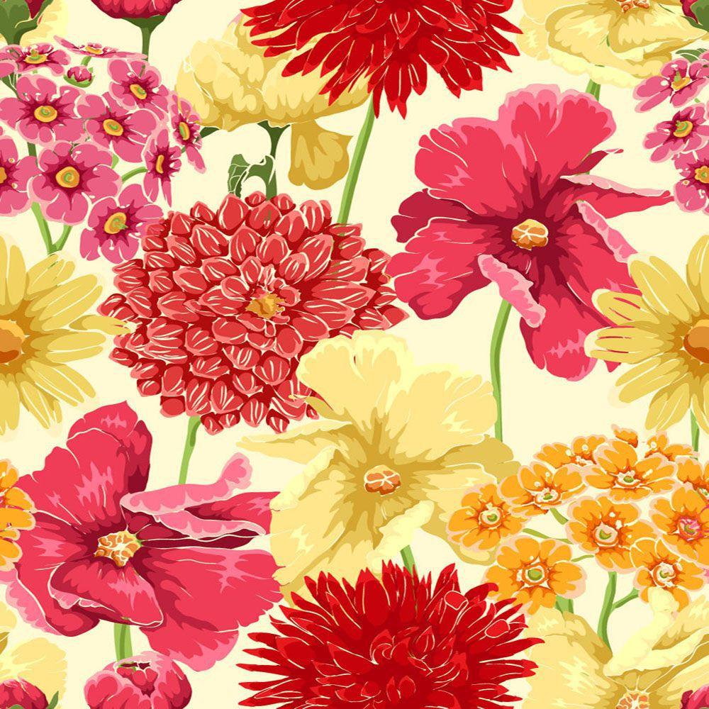 Papel de Parede Floral 0109 - Adesivos de Parede  - Paredes Decoradas