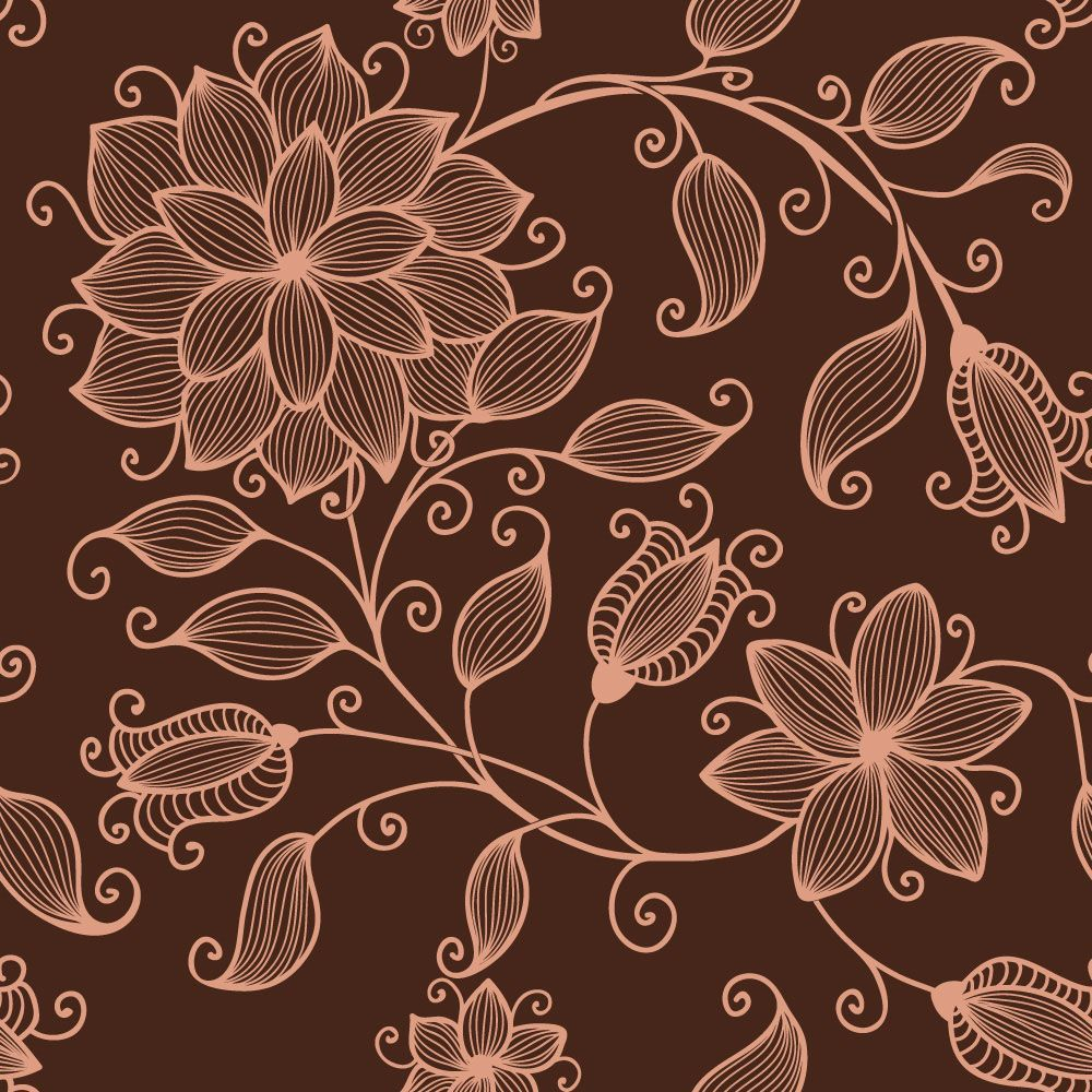 Papel de Parede Floral 0110 - Adesivos de Parede  - Paredes Decoradas