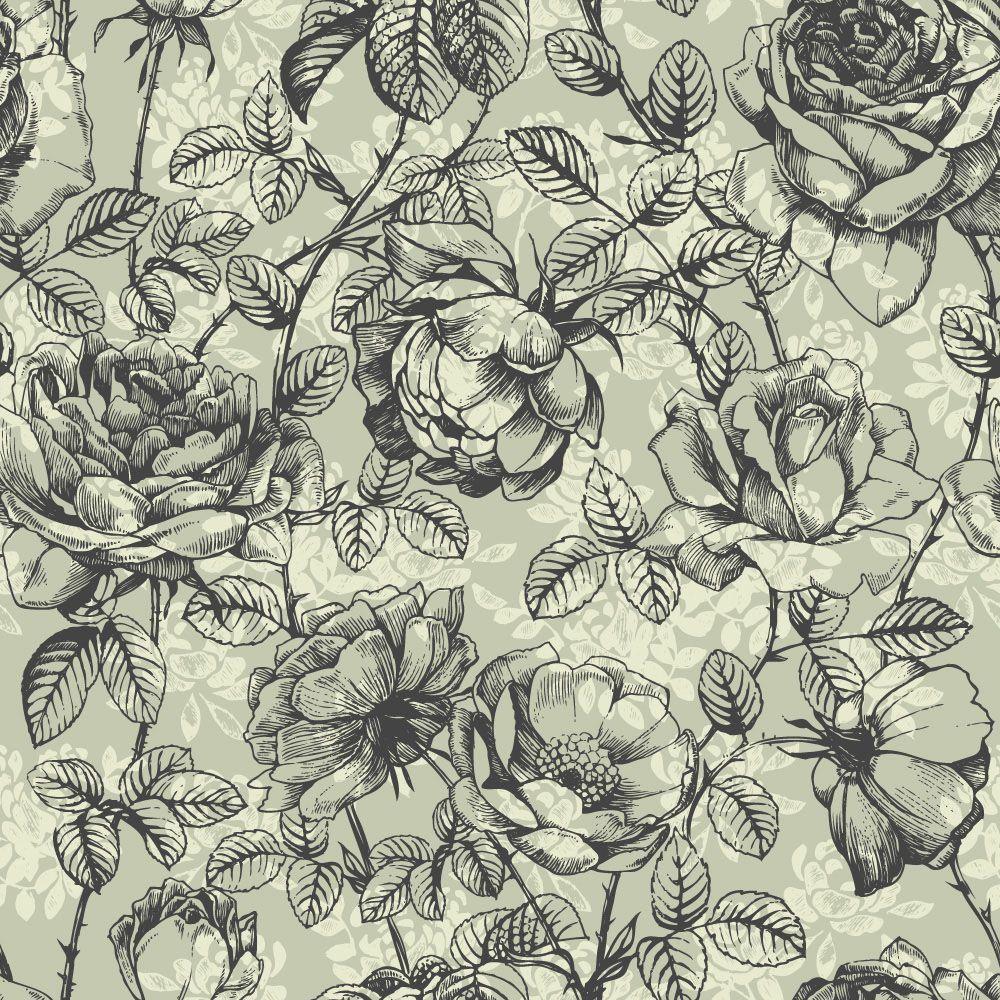 Papel de Parede Floral 0113 - Adesivos de Parede