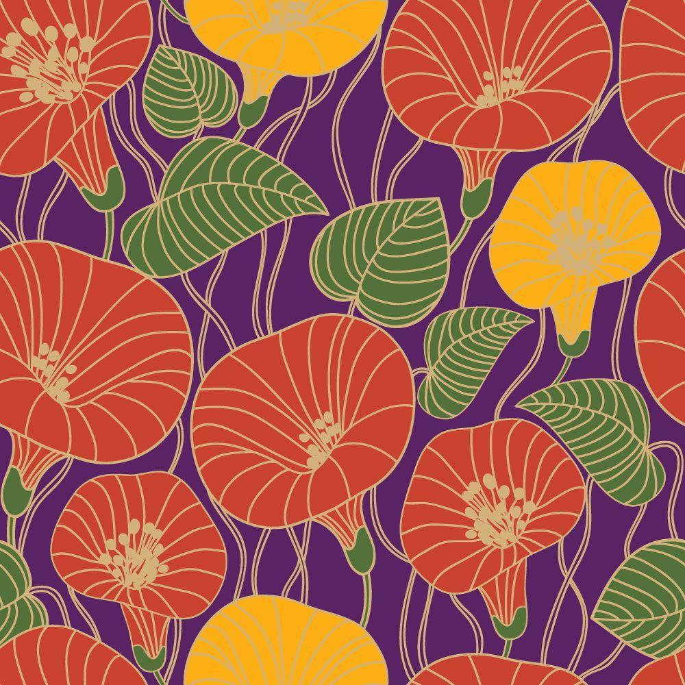 Papel de Parede Floral 0114 - Adesivos de Parede