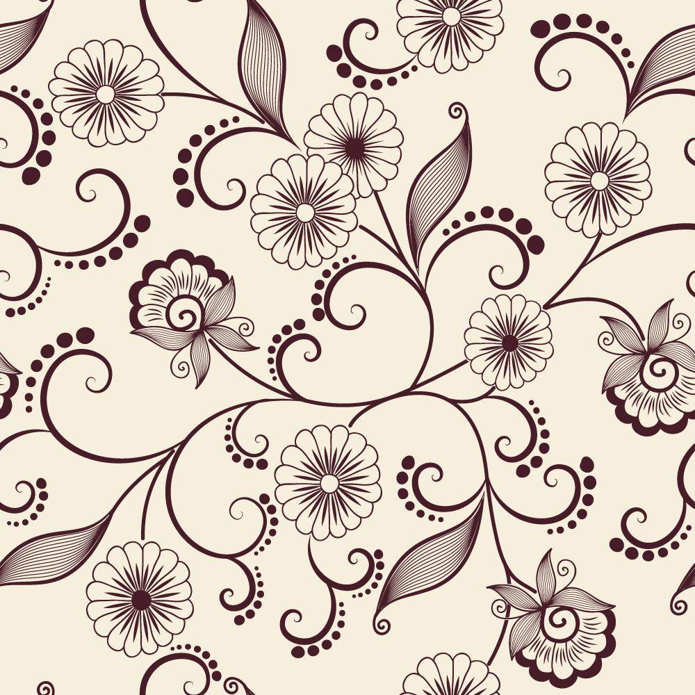 Papel de Parede Floral 0115 - Adesivos de Parede  - Paredes Decoradas