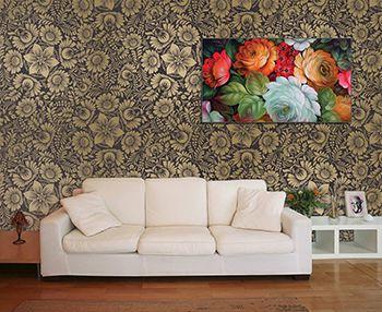 Papel de Parede Floral 0116 - Adesivos de Parede