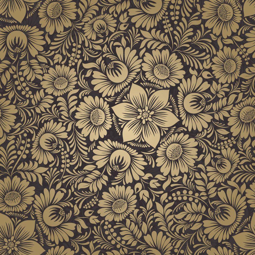 Papel de Parede Floral 0116 - Adesivos de Parede  - Paredes Decoradas
