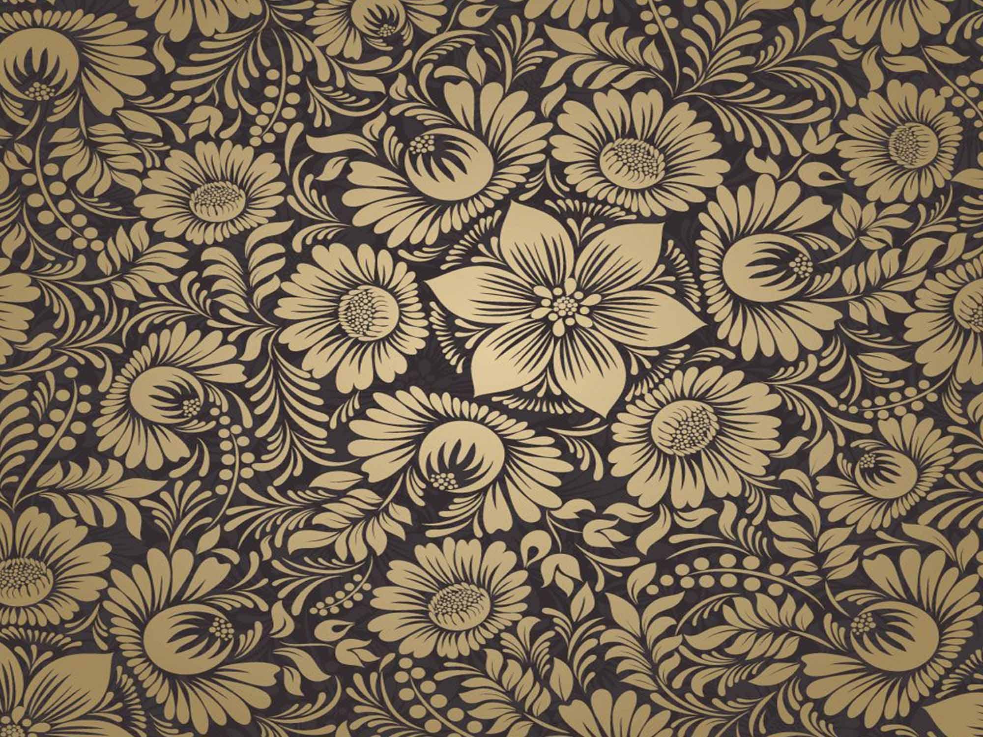 Papel de Parede Floral 0116 - (Rolo 3m x 59cm) - PROMOÇÃO  - Paredes Decoradas