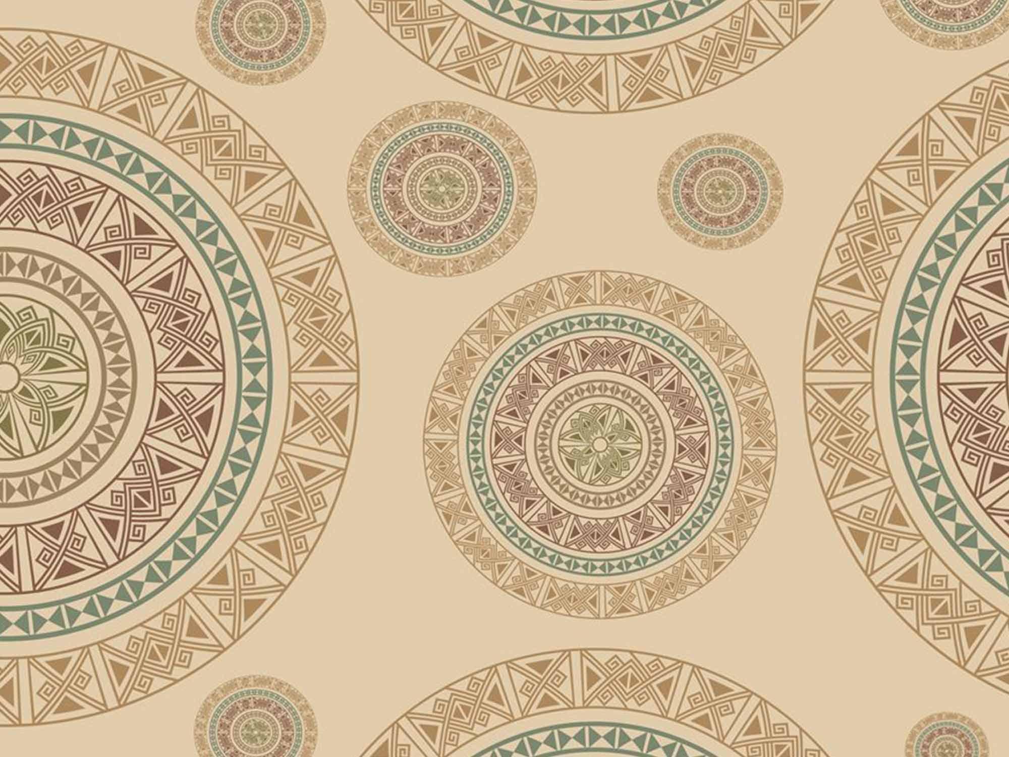 Papel de Parede Indiano 0001 - Adesivos de Parede  - Paredes Decoradas