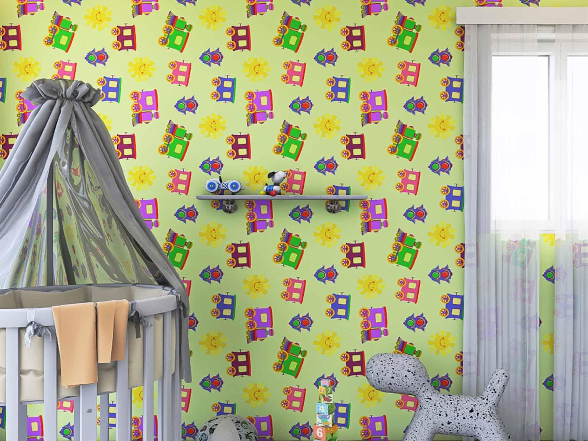 Papel de Parede Infantil 0007 - Adesivos de Parede  - Paredes Decoradas