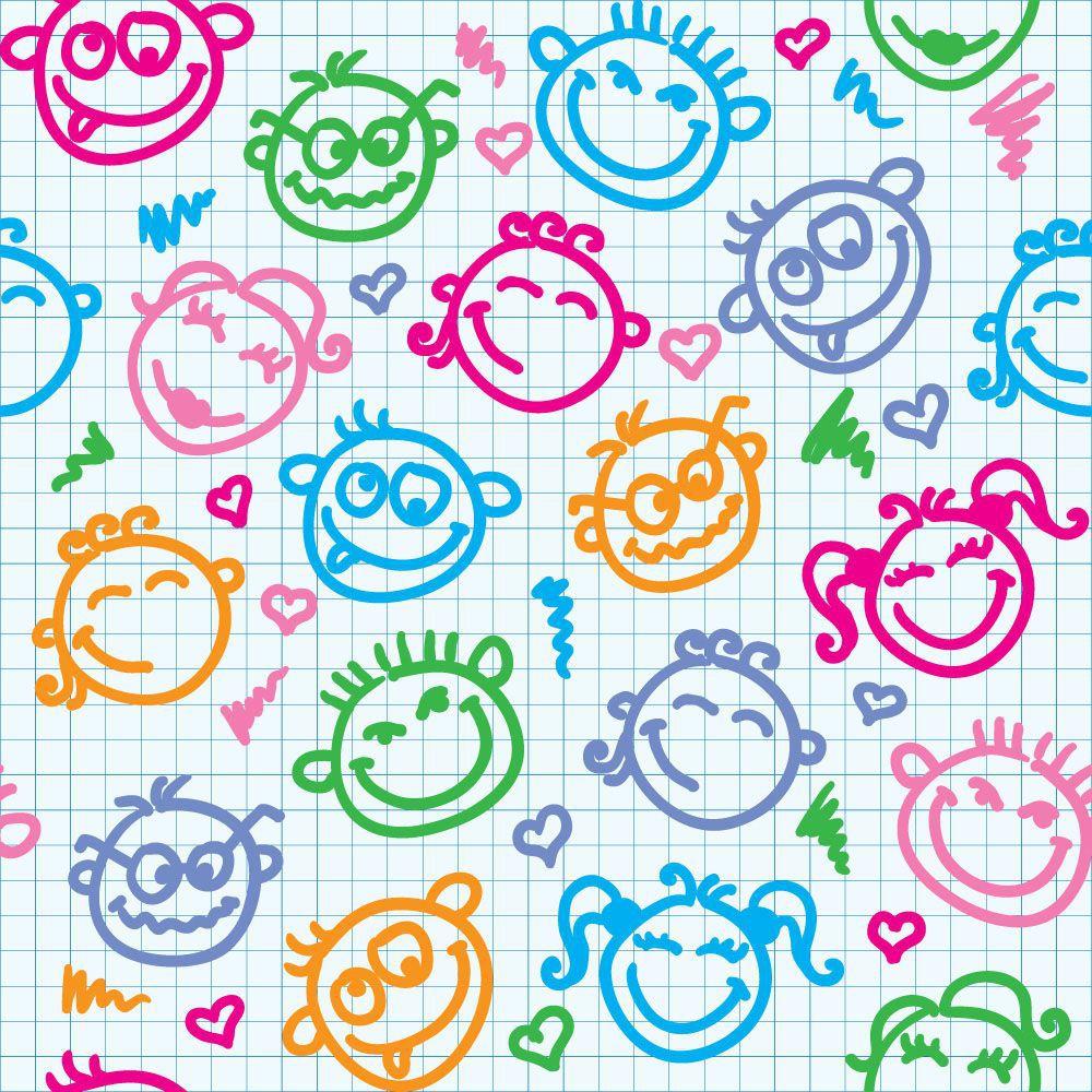 Papel de Parede Infantil 0020 - Adesivos de Parede  - Paredes Decoradas