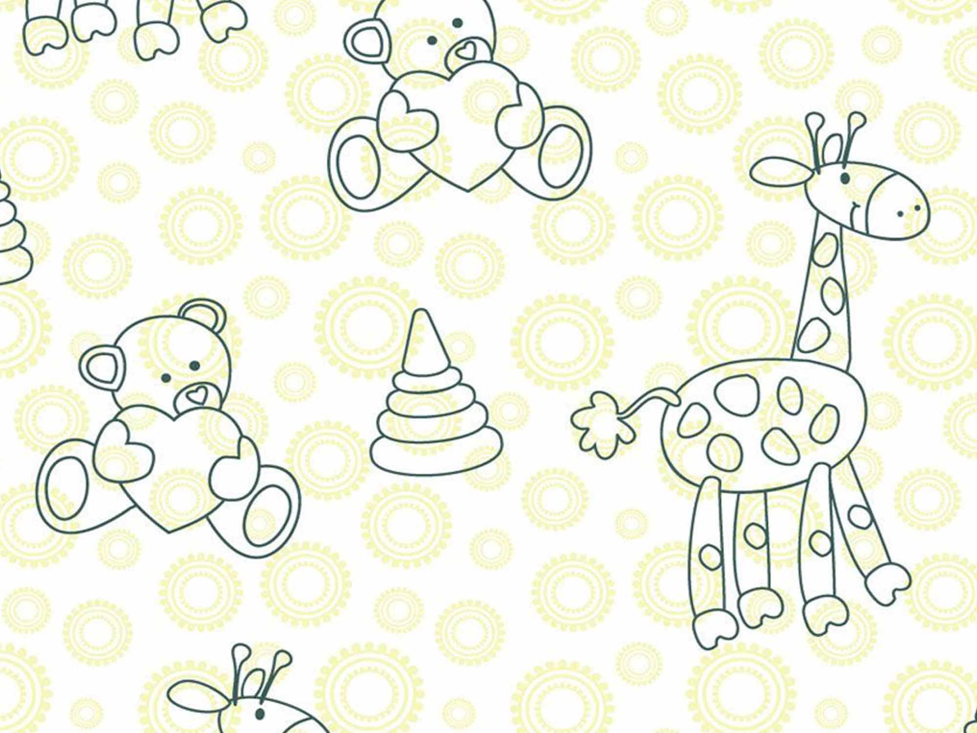 Papel de Parede Infantil 0021 - Adesivos de Parede  - Paredes Decoradas