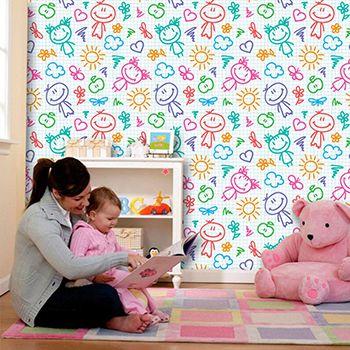 Papel de Parede Infantil 0024 - Adesivos de Parede