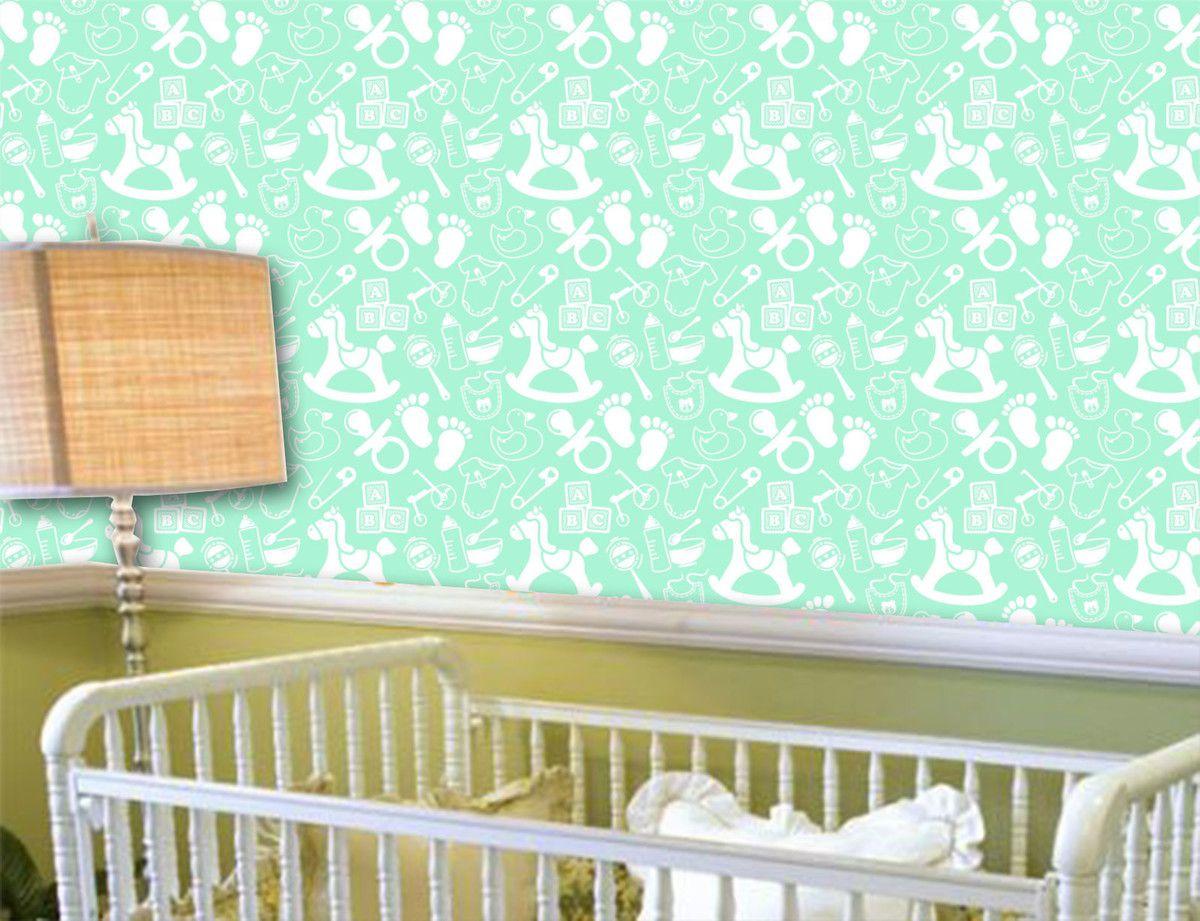 Papel de Parede Infantil 0026 - Adesivos de Parede  - Paredes Decoradas
